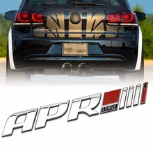 Car Styling 3D APR Stage III Logo Badge Emblem Car Tail Side Fender Decal Stickers for Golf Audi R8 RS4 RS5 A4 High Quality ABS(China)