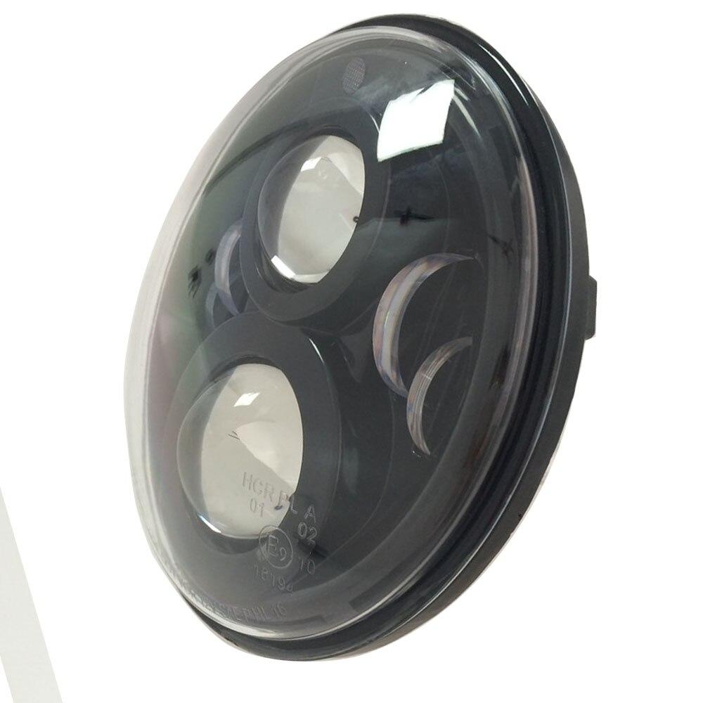 Honey 2pcs For Jeep Wrangler Jk Tj Cj Patrol Gr Y60 Hummer H2 7 Round Led Headlight With White Drl Amber Signal Light For Uaz Hunter Car Lights