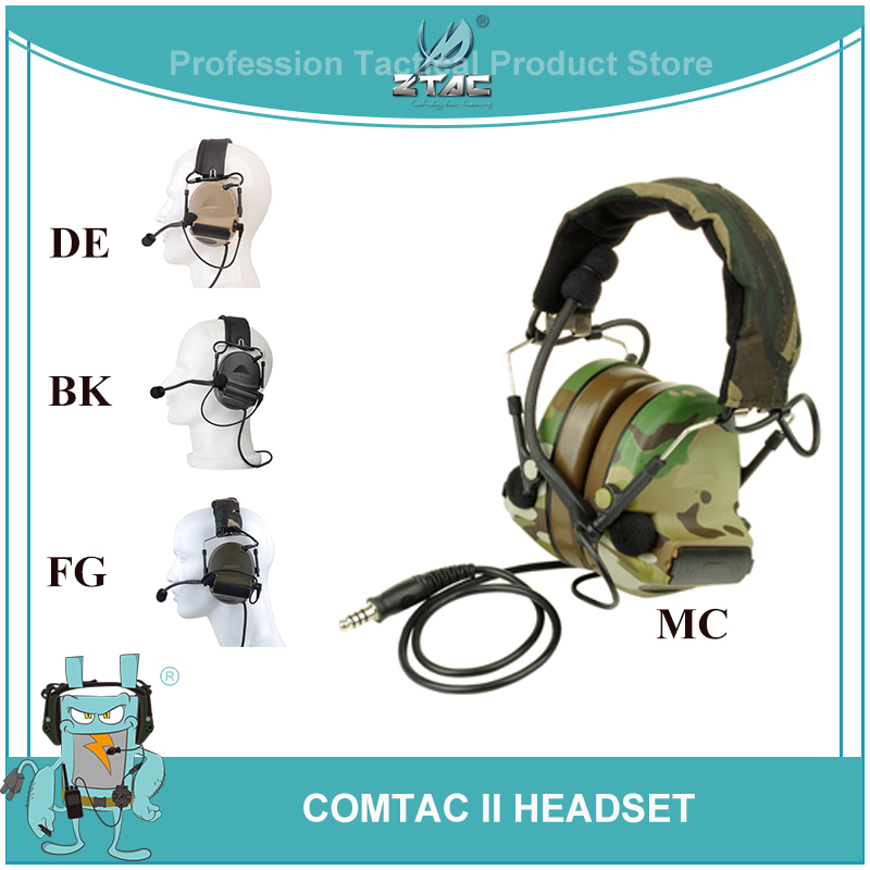 Z Tac Softair Peltor Comtac II Element Tactical ptt Headset Aviation Headset Airsoftsports Active Headphones For