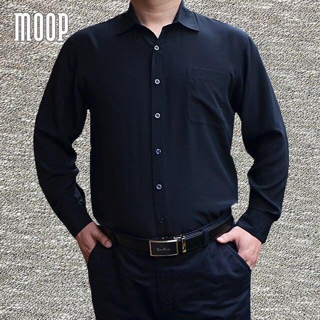 Estilo americano 100% camisa de seda camisas dos homens preto branco azul  chemise homm LT1473 bf105c4e87933