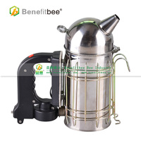 New Stainless Steel Round Outlet Electric Bee Smoker Hive Smoke Control Machine With Hand Held Beekeeping