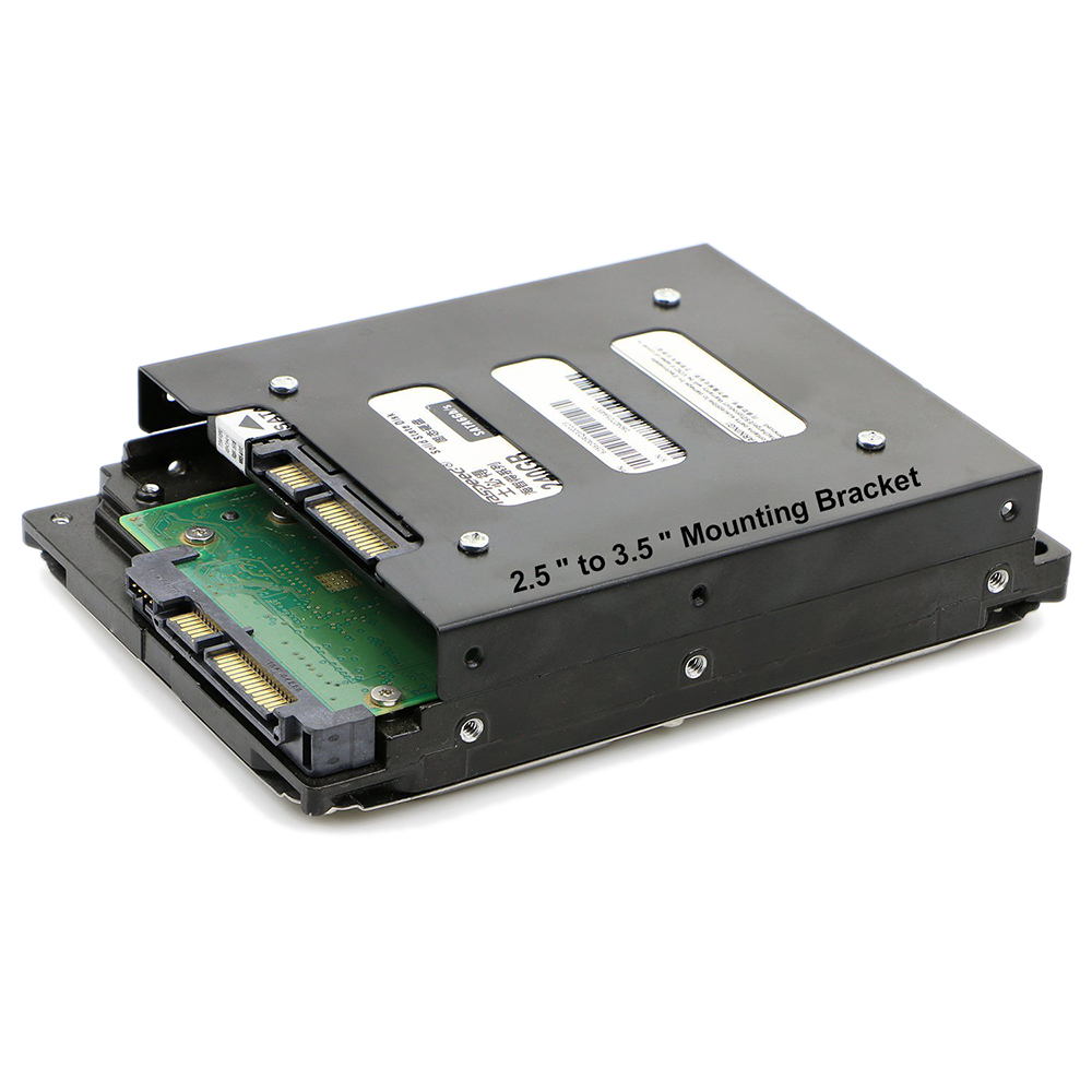 "Universal 2.5/"" to 3.5/""SSD//HDD Mounting Adapter Bracket with SATA Cables"