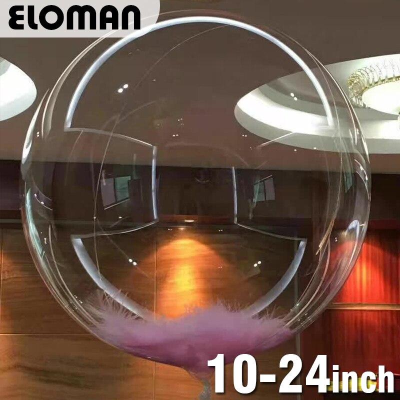Новинка 2017, круглые супер прозрачные шары, 18-24 дюйма, шары для вечеринки в честь Дня Рождения, свадьвечерние, вечеринки, украшения для рождес...
