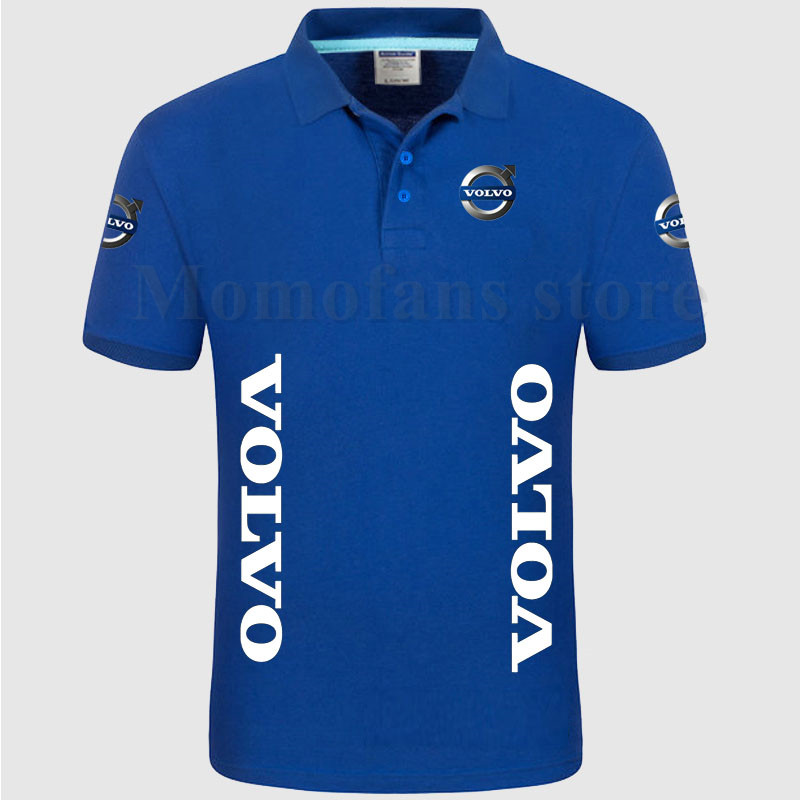 Summer style short sleeve soild color cotton Volvo   POLO   shirts S-3XL plus size good quality   Polo   shirt