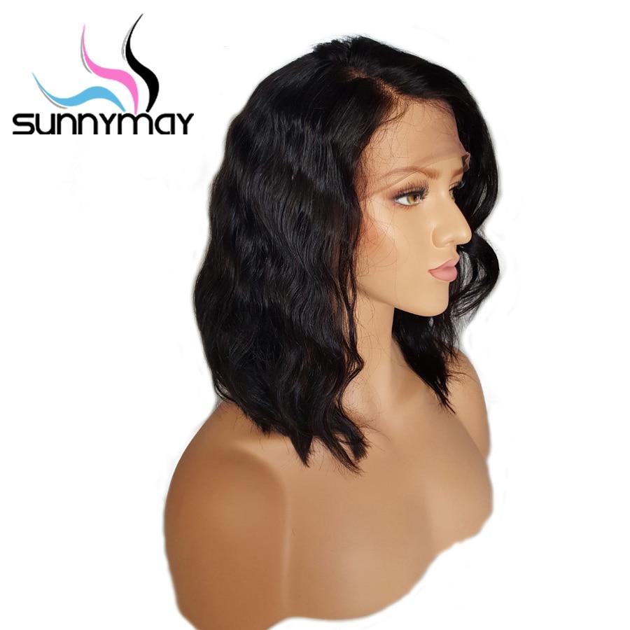 Sunnymay Short Bob Lace Front Mänskliga Hårperor Med Babyhår 8 - Mänskligt hår (svart) - Foto 3