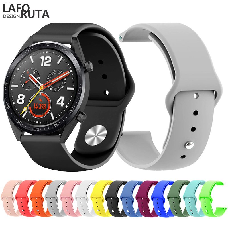 Replacement Sport Silicone 22mm Watch Bands For Huawei Watch GT For Samsung Galaxy 46mm Strap Smart Watch Wristband