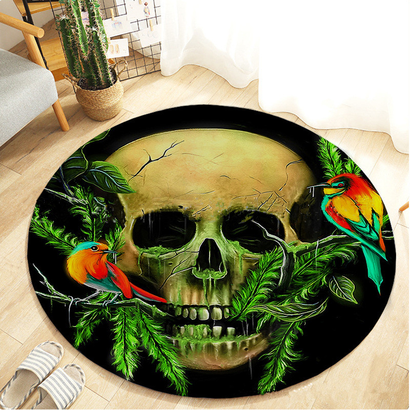 Modern Skulls Printed 3D Carpet Flannel Doormat Floor Mats/Rugs Anti-slip Bathroom Bedsider Kitchen Area Carpets For Living Room