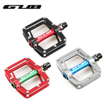 Buy GUB GC010 Colorful Cycling Pedal Professional MTB Road Bike Aluminum alloy Bicycle Flat Platform Sealed Bearing Riding Pedals directly from merchant!