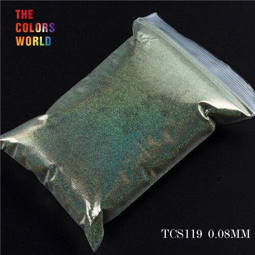 TCT-070 голографическая цветная устойчивая к растворению блестящая пудра для дизайна ногтей Гель-лак для ногтей тени для макияжа - Цвет: TCS119  200g