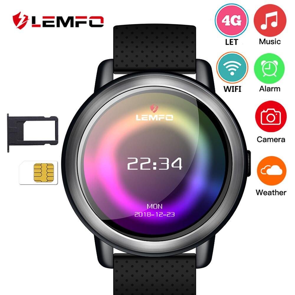 LEMFO LEM8 Smartwatch Android 7.1 LTE 4g Sim WIFI 1.39 pouce 2MP Caméra GPS Coeur Taux IP67 Étanche Intelligent montre pour Hommes Femmes
