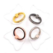 Transparent Cat style Phone 360 Degree Finger Ring  Holder For iPhone Samsung Xiaomi Mobile Smartphone Stand Holder