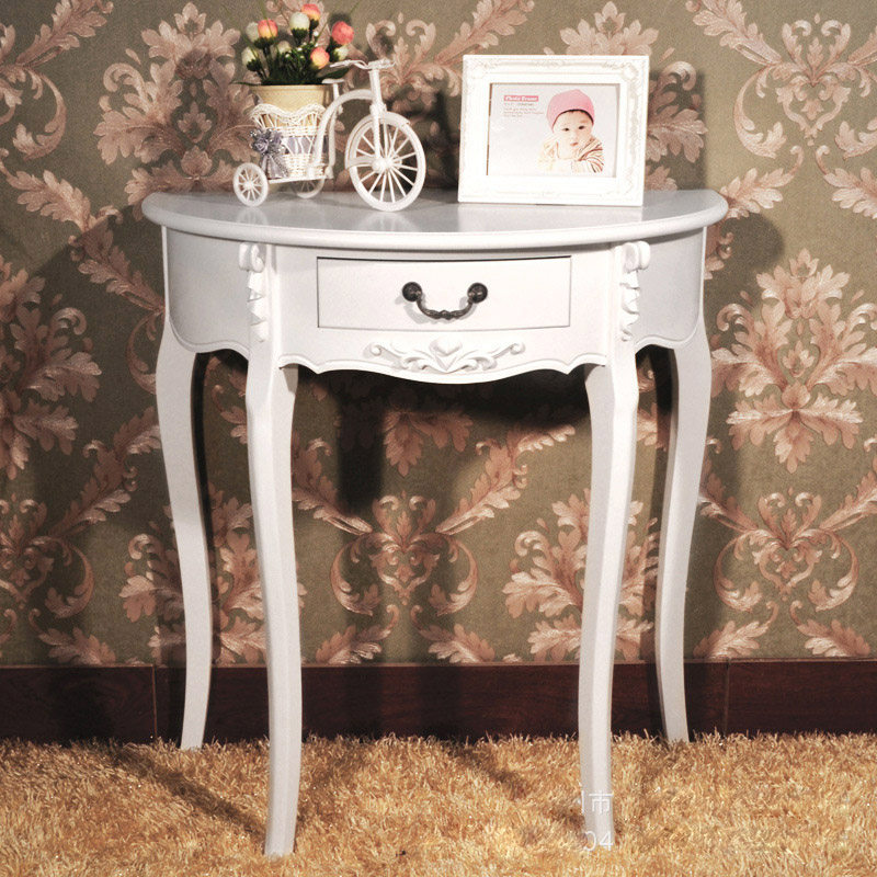 Charmant Cheap Half Moon Station Side Table Console Table Factory Outlets European  Style Entrance Station Half Roundtable In Console Tables From Furniture On  ...