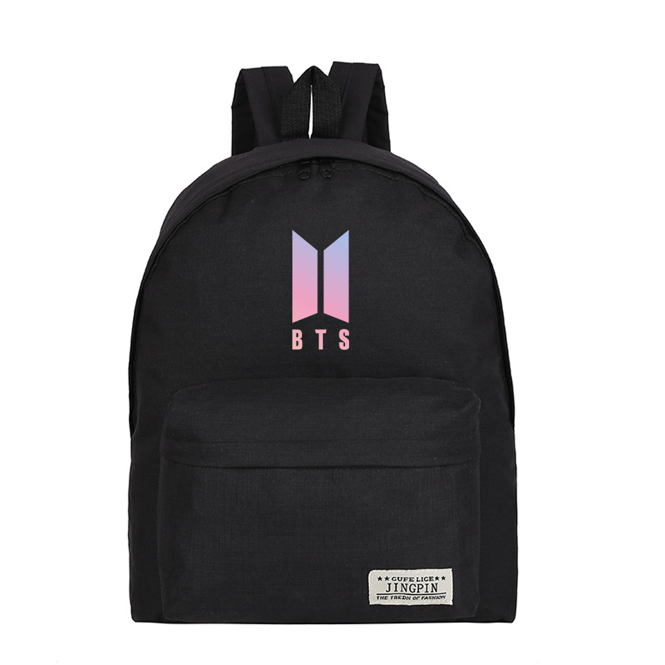 Kpop Harajuku Backpack Idol Funny Mochila Bts For Teenager Canvas Hip Hop Girl Boy Bangtan Boys School Bag New Arrival Bag