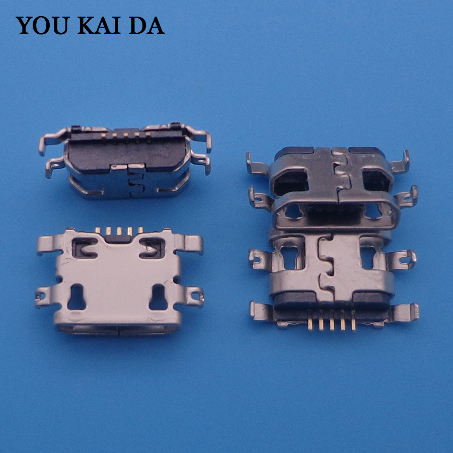 10pcs/lot For Lenovo A2010 Computer Tablet PC Mobile Phone Micro USB Connector Jack Socket Mini Charging Port DC 5pin