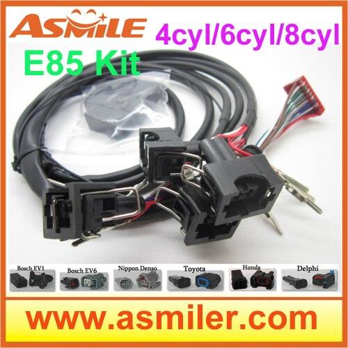 E85 Conversion Kit 6cyl (plastic Case)-- Cold Start Asst, Flex Fuel, Kit Ethanol E85, Superethanol DHL Free Price