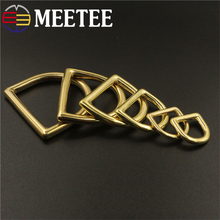 5pcs Meetee 13-44mm Solid Brass O D Ring Buckles Pure Copper Loop DIY Bag Luggage Strap Hardware Leather Craft Accessories