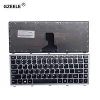 EUA Novo Teclado PARA LENOVO Z400 GZEELE Z400A P400 Z410 Z400T Z400P Inglês layout de teclado do laptop sem Luz de Fundo cinza fronteira|Teclado de substituição| |  -