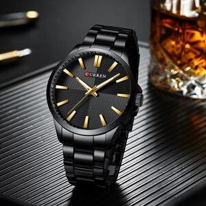 Image 4 - Men Watches 2019 Luxury Brand Stainless Steel Fashion Business Mens Watch CURREN Wristwatch Man Clock Waterproof 30 M Relojes