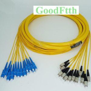 Image 1 - Patch Cord Jumper SC FC UPC SC/UPC FC/UPC SM 12 Cores Fibers Trunk Breakout 2.0mm GoodFtth 1 6m