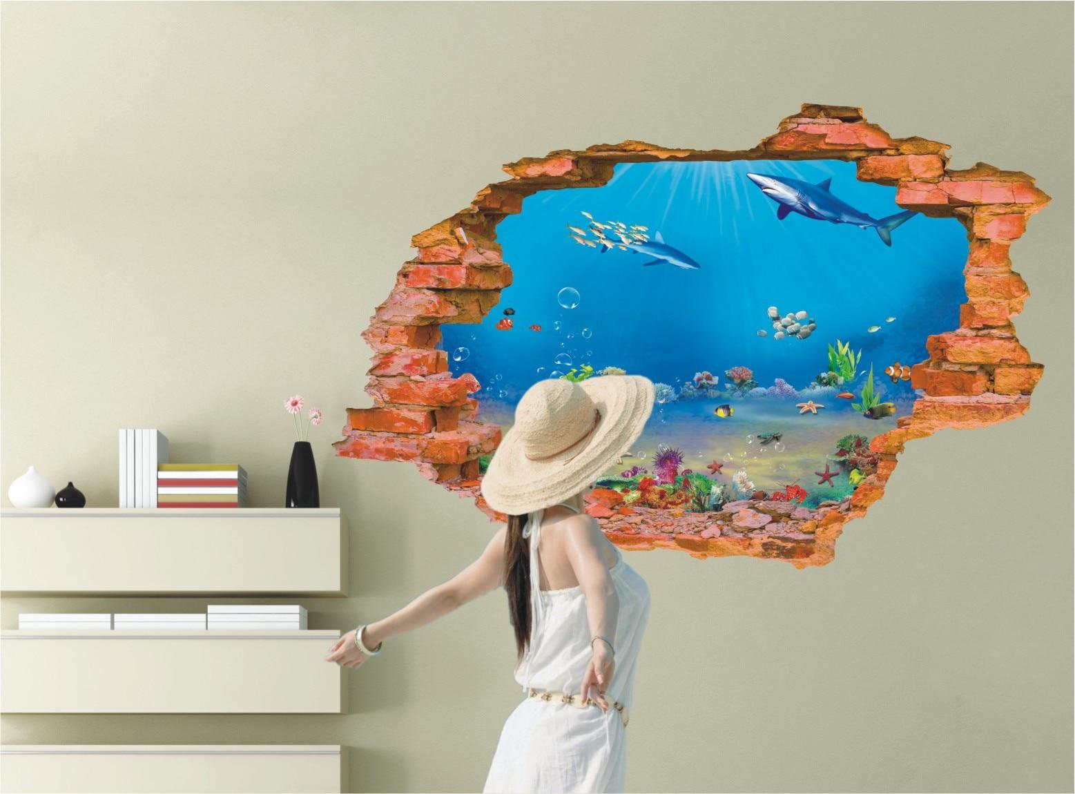 aquarium mur autocollants achetez des lots 224 petit prix