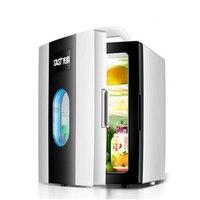 10L автомобильный мини холодильник Авто Портативный морозильной камерой небольшой холодильник охладитель бытовой нагреватель низкая Шум б
