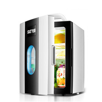 10L Car Mini Fridge Refrigerator Auto Portable Freezer Small Icebox Cooler Heater Household Low Noise Rapid Refrigeration