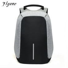 Flyone Anti-theft Waterproof Laptop Backpack Men External USB Charge Notebook Backpack for Women  Computer bag Mochila FY0144