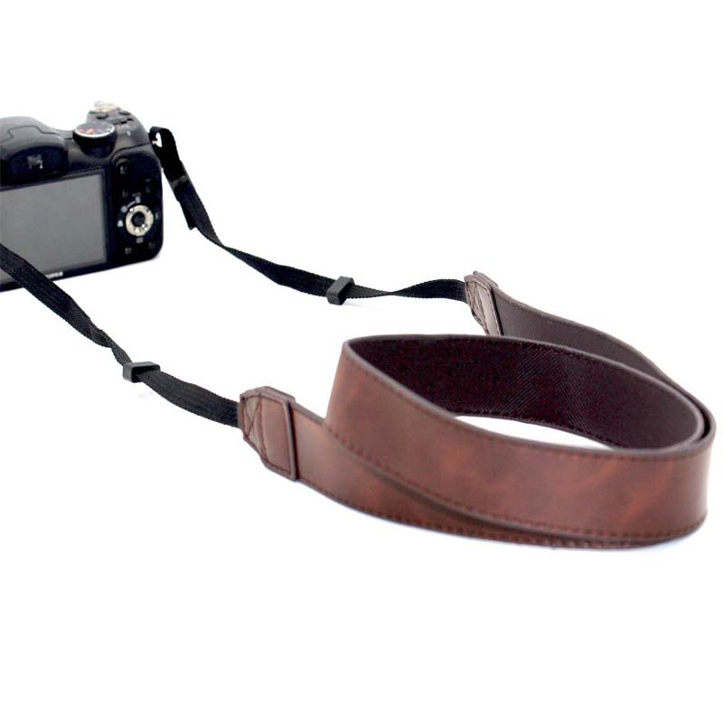 PCTC PU Leather Camera Shoulder Strap For all SLR Camer 700D 100D 1300D 1200D 7D Mark II M3 M5 M10 Coffee Belt Strap