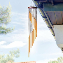 Home Decor Wind Chimes Garden Outdoors Tubes Indoors Courtyards Alloy Hanging 27.5 Cm ​​Birthday gift Practical