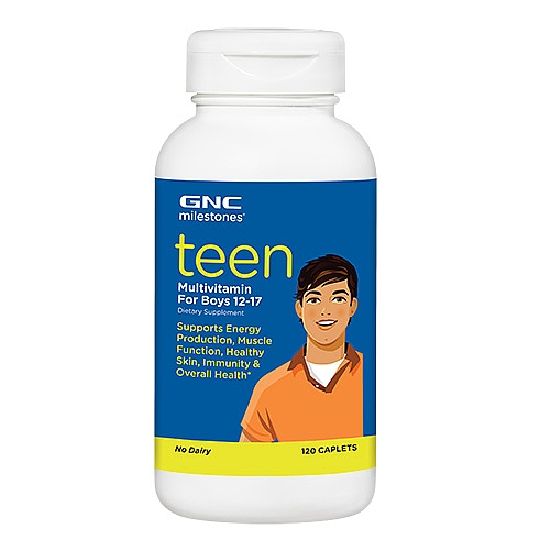 Teen Multivitamin For Boys 12-17,120 Caplets Item #200812