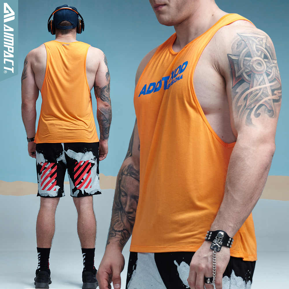3d05a83559dad ... Aimpact Fitness Mens Tank Tops Sexy Bodybuilding Clothing Low Cut  Armholes Activewear Summer Singlets Crossfit Workout ...