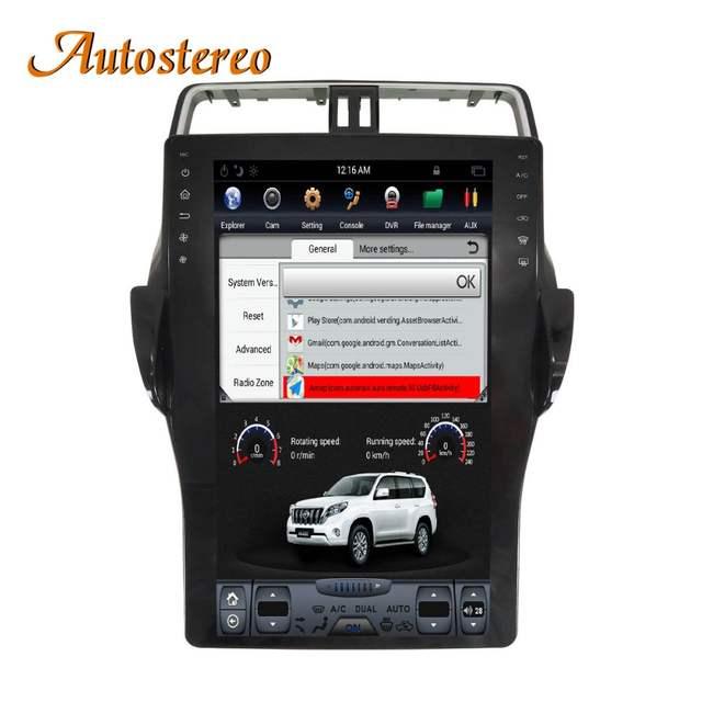 US $678 33 13% OFF|Tesla style 16 inch Car No DVD Player GPS Navigation For  TOYOTA Land Cruiser Prado 150 2018 head unit radio multimedia player HD-in