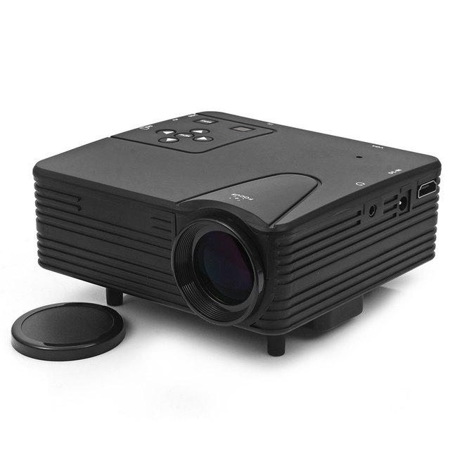 LZ-H80 Mini Proyector Portable 80 Lúmenes 480x320 Píxeles Mini LED Heló la Ayuda Del Proyector HDMI AV VGA Tarjeta SD entrada