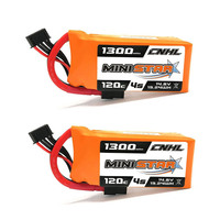 1 / 2 / 3PCS CNHL MiniStar 14.8V 1300mAh 4S 120C Lipo Battery Rechargeable W/ XT60 Plug Connector for RC Drone FPV Multicopter