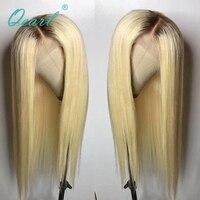 Qearl Синтетические волосы на кружеве парики блондинка парик Ombre два тона 4 цвета #/613 # Передняя Кружева Парики бразильского Волосы remy парик сре
