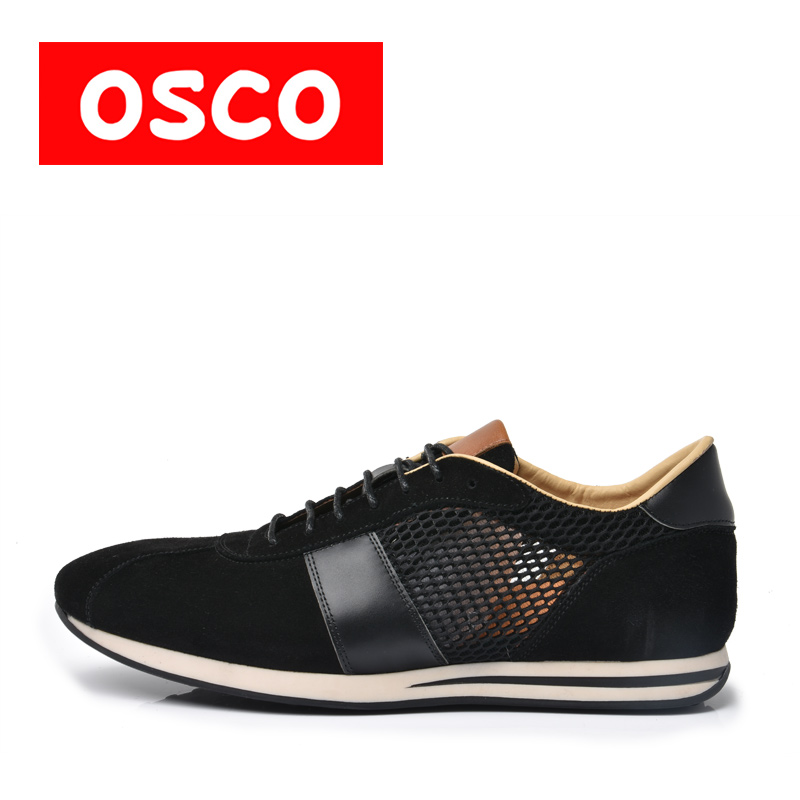 OSCO ALL SEASON New Men Shoes Fashion Men Casual Breathable Shoes Cow suede leather shoes #RU0009 пена монтажная mastertex all season 750 pro всесезонная