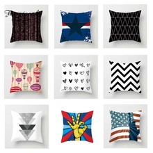 Fuwatacchi Simple Geometric Cushion Cover Love Dot   Soft Throw Pillow Cover Decorative Sofa Pillow Case Pillowcase fuwatacchi geometric printed cushion cover dot heart snow star pillow cover decorative sofa home throw pillowcase pillow covers