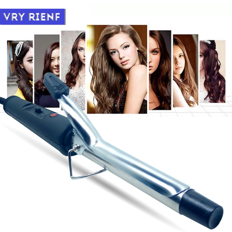 VRY RIENF Professional Hair Curling Iron Dry Wet Used Electronic Curling Wand Hair Iron Wave Fast Curling Irons EU Plug
