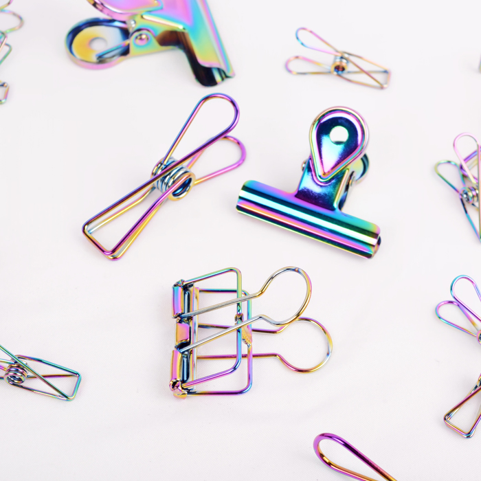 Fashion Multi-color Paper Clips De Papel Notes DIY Bookmark Hollow Out Metal Binder Clips Fish Clips Notes Letter Paper Clips