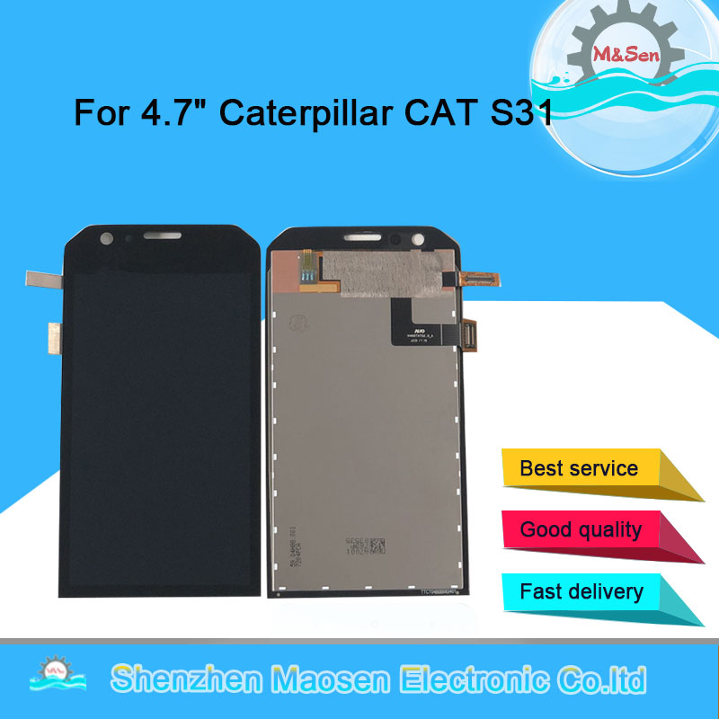 Original M Sen For 4 7 Caterpillar CAT S31 LCD Display Screen Touch Panel Digitizer For