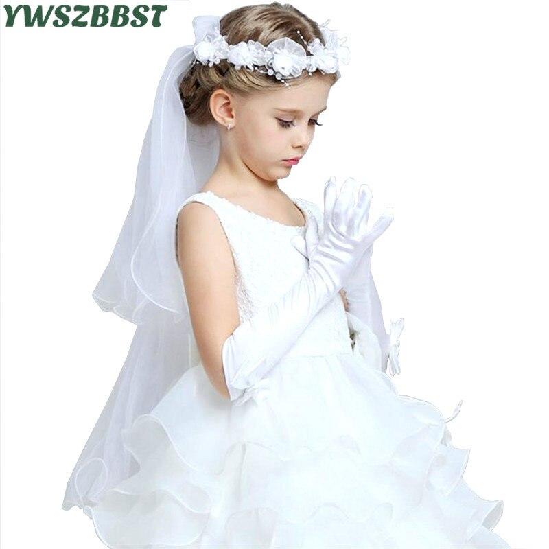 ec198e55e2dd4 Prenses Kızlar Eldiven Saten Uzun Eldiven çocuk Günü Hediyeleri Parti Ilmek Çocuk  Elbise ile Balo Dans Eldiven Aksesuarları