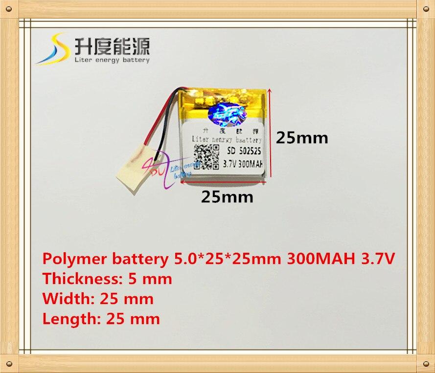 502525 052525 300 mAh 3.7 V batería de polímero de iones de litio MP3 MP4 GPS productos de calidad de la FCC del CE roHS certificación autoridad