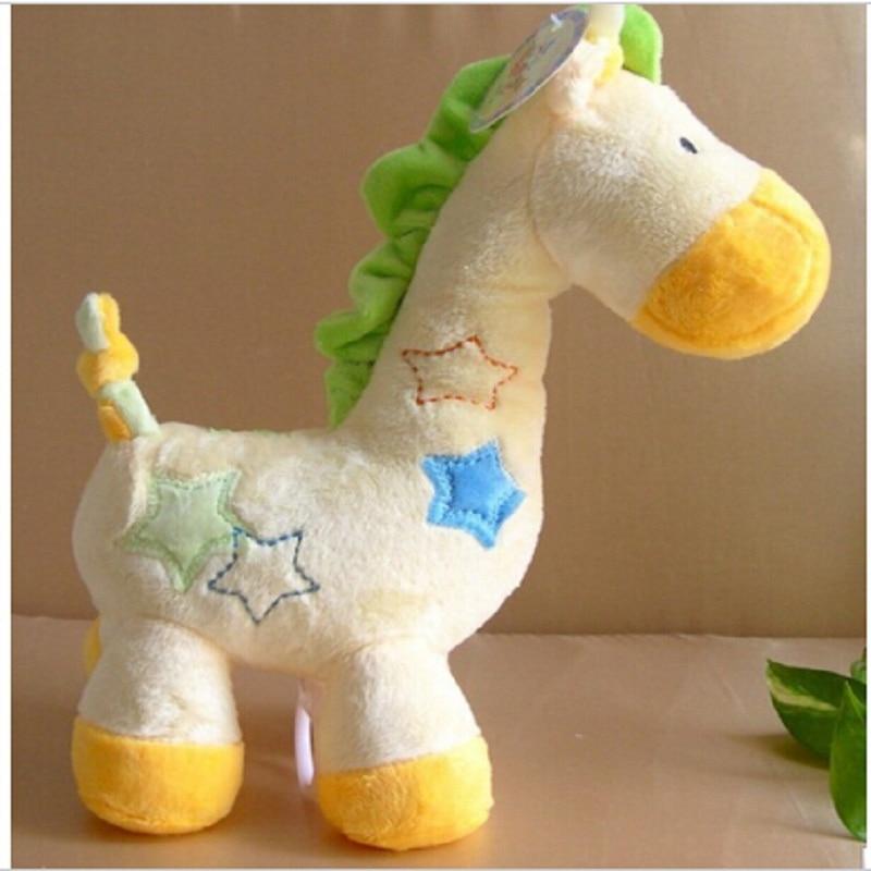 Rumena žirafa glasbena škatlica Bell Baby ruski in angleški slog - Igrače za dojenčke in malčke