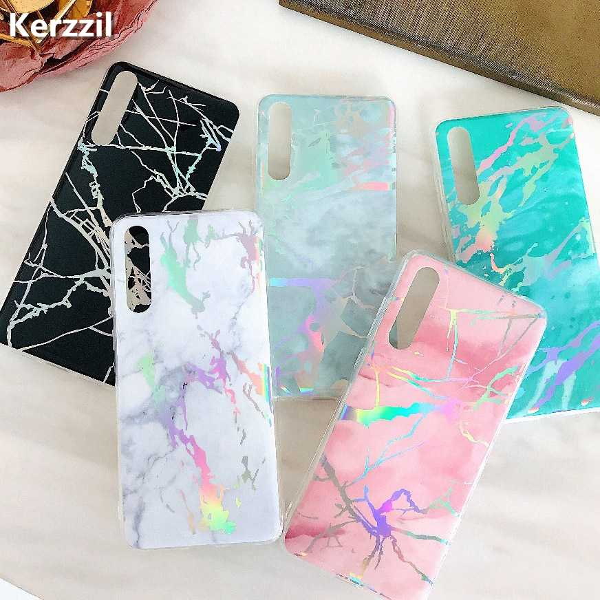 Glossy Laser Marble Case For Huawei Honor 10 7A 7C Pro Y5 Y6 Y7 Prime 2018 P20 Lite ProP Smart Plus Soft TPU Cover Back