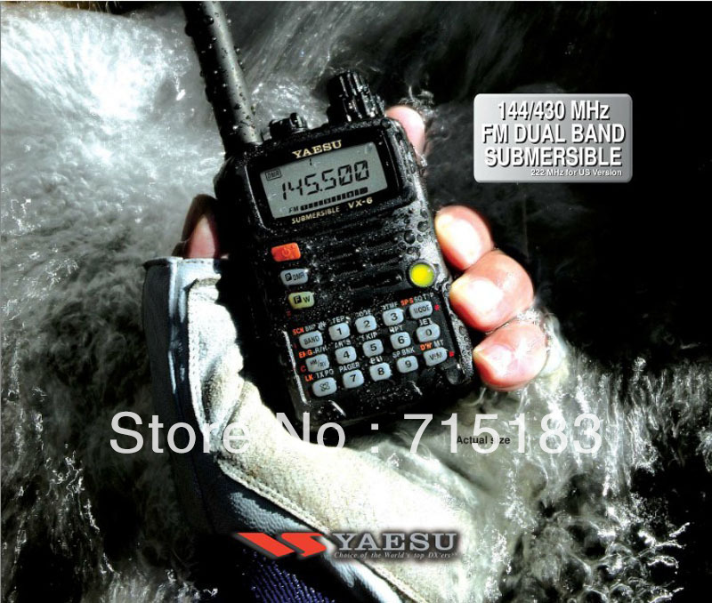 Yaesu VX-6R Portable Ham Two Way  Radio Submersible Dual Band 5W FM Transceiver 100% NEW Original Yaesu VX 6R Walkie Talkie