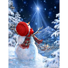 Full Square/Round Drill 5D DIY Diamond Painting Christmas snowman Embroidery Cross Stitch  Home Decor Gift diapai 100% full square round drill 5d diy diamond painting flower landscape diamond embroidery cross stitch 3d decor a21095