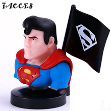 8pcs/set The Avengers Superman Car Decoration Action Figures Super Hero Toy Doll Hulk Batman Spiderman Iron Man Boys Toys Gifts