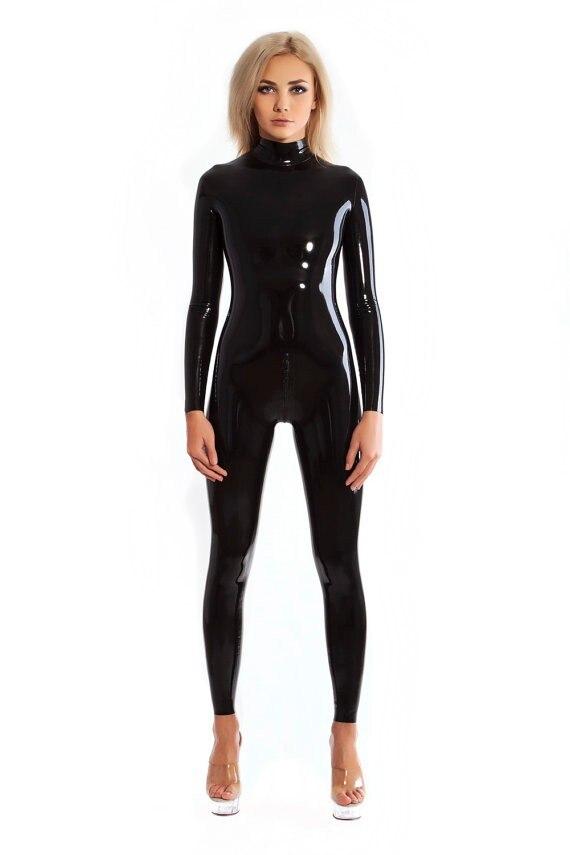 Bright 100%latex Rubber Gummi 0.45mm Swimwear Top Mini Skirt Catsuit Suit Fashion Black Mixed Intimate Items