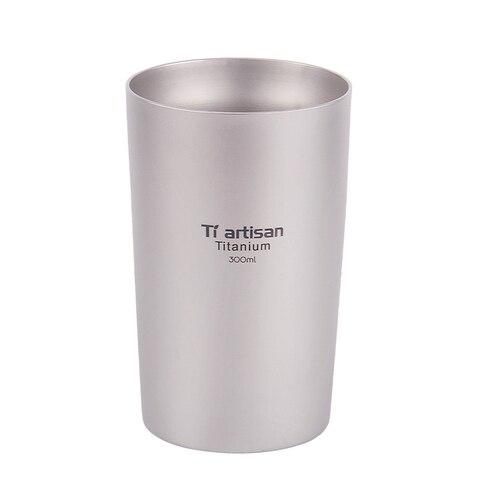 300ml caneca de cafe caneca copo de acampamento ao ar livre acampamento de titanio puro