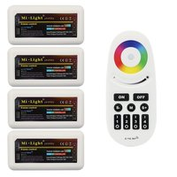 1 Remote 4 Controller Mi Light RGBW Controller Group Control 2 4G 4 Zone RF Touch